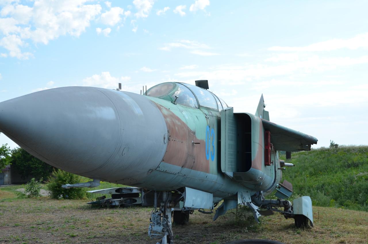 Eine MIG 23 im Raketenmuseum