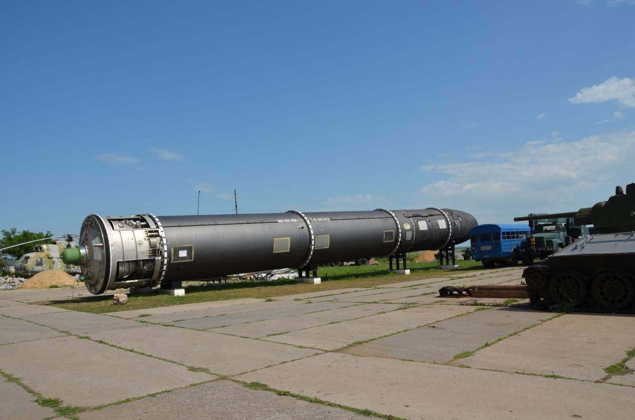 Eine Satan Atomrakete im Raketenmuseum