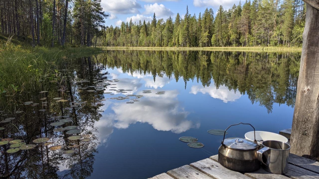 Waldsee in Finnland